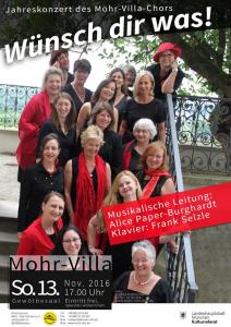MVC - Konzertplakat Wünsch Dir was, November 2016